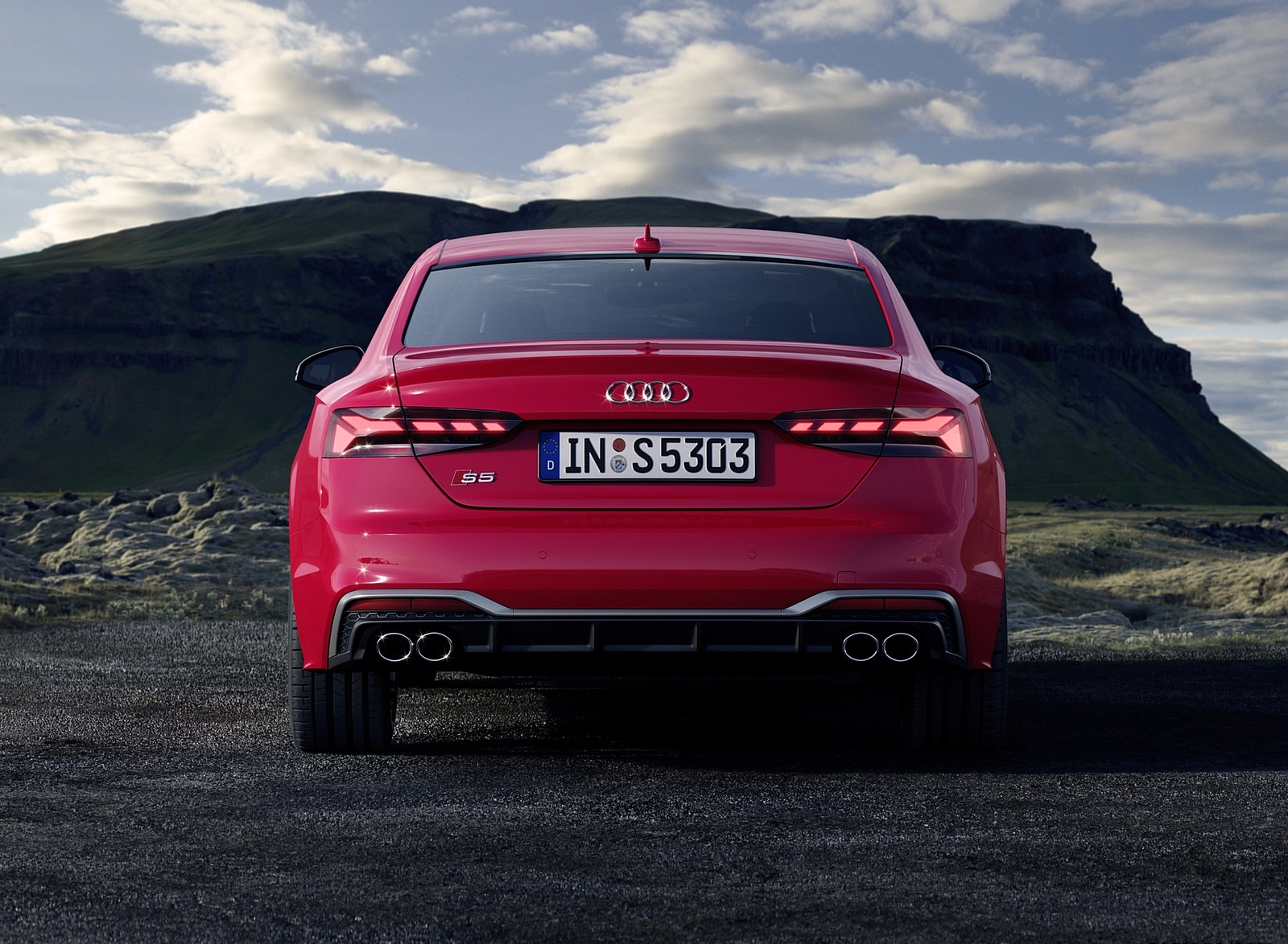 2020 Audi S5 Coupe TDI (Color: Tango Red) Rear Wallpapers (9)
