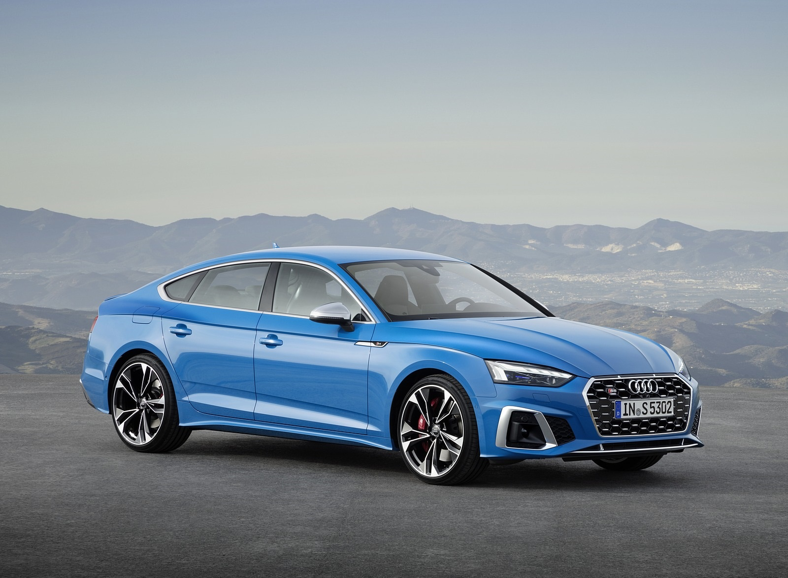 2020 Audi S5 Sportback TDI (Color: Turbo Blue) Front Three-Quarter Wallpapers (6)