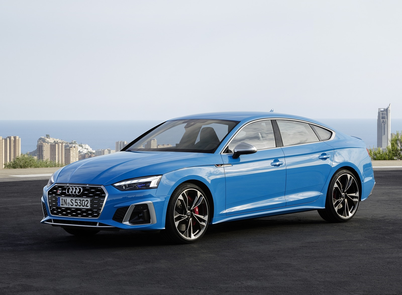 2020 Audi S5 Sportback TDI (Color: Turbo Blue) Front Three-Quarter Wallpapers (7)