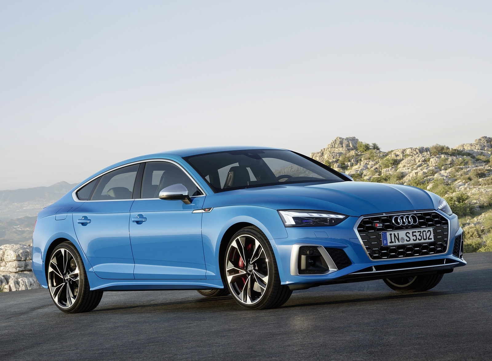 2020 Audi S5 Sportback TDI (Color: Turbo Blue) Front Three-Quarter Wallpapers (8)