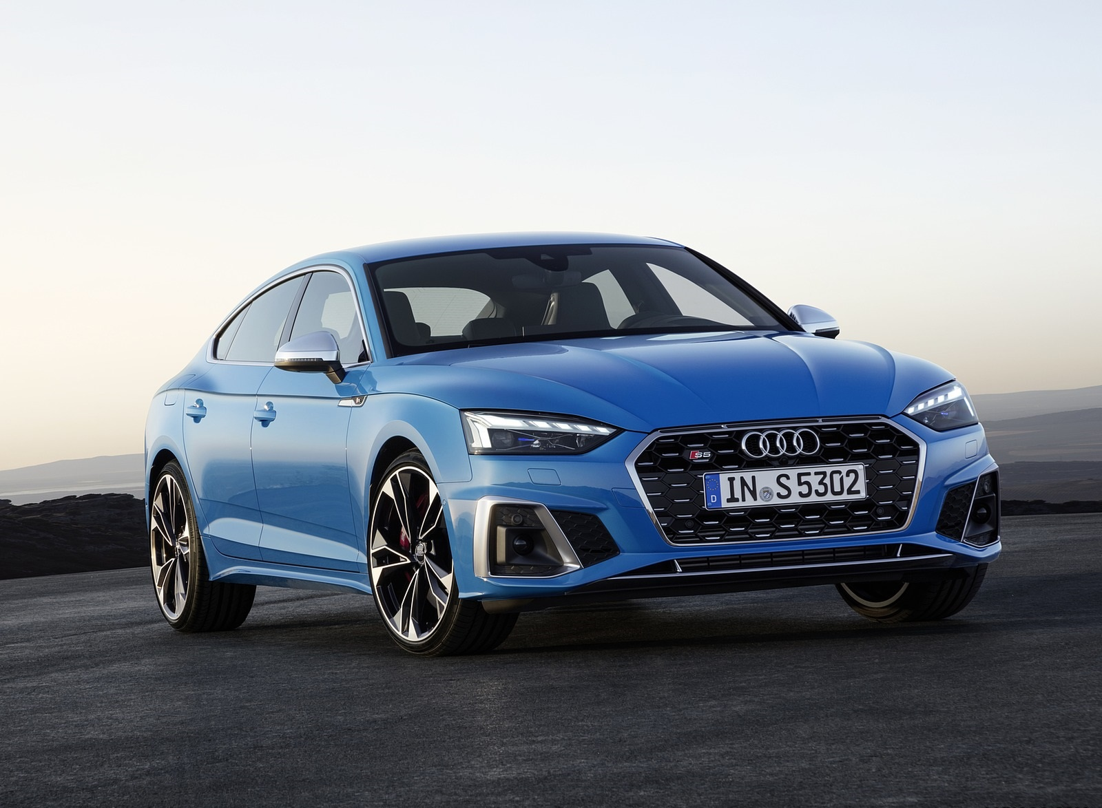 2020 Audi S5 Sportback TDI (Color: Turbo Blue) Front Three-Quarter Wallpapers (9)