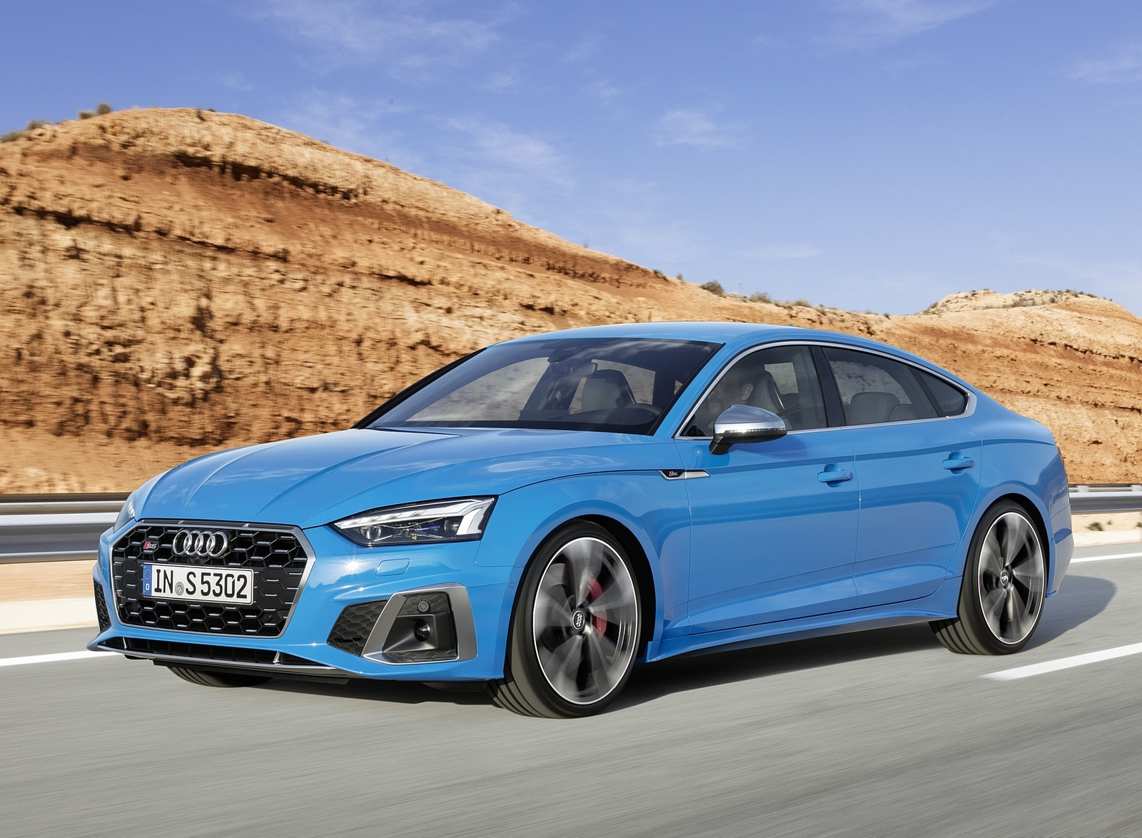 2020 Audi S5 Sportback TDI (Color: Turbo Blue) Front Three-Quarter Wallpapers (4)