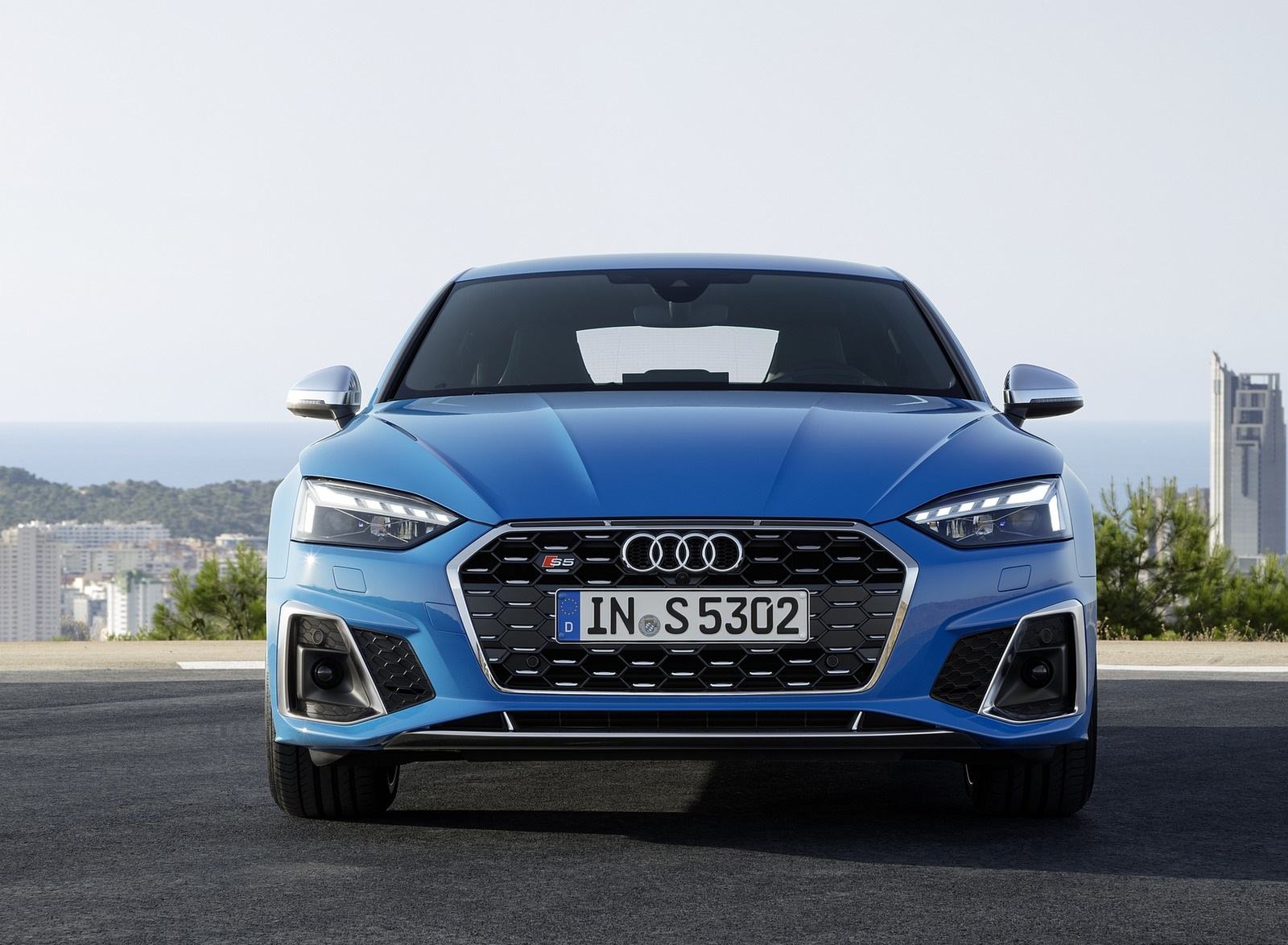 2020 Audi S5 Sportback TDI (Color: Turbo Blue) Front Wallpapers (10)