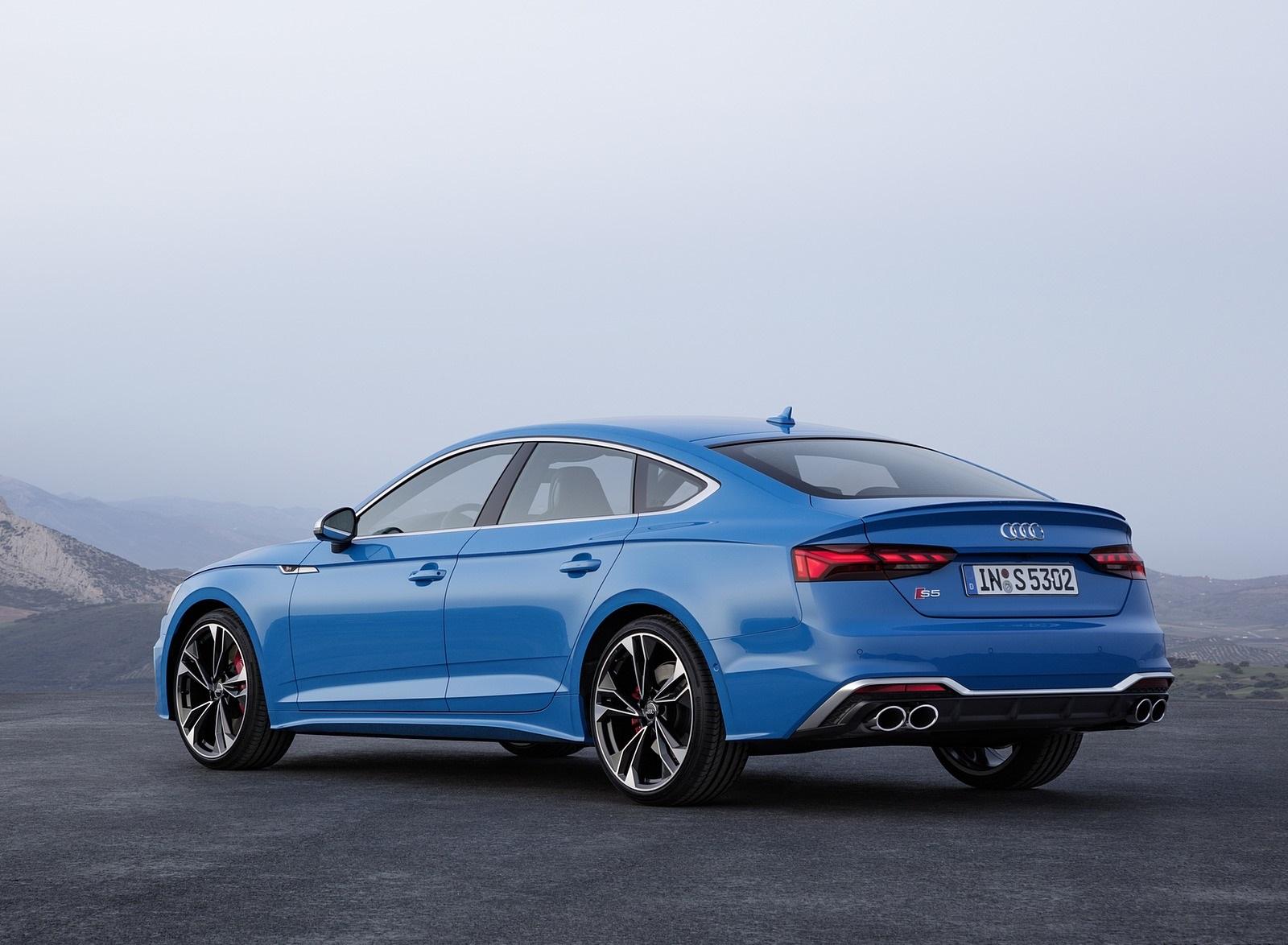 2020 Audi S5 Sportback TDI (Color: Turbo Blue) Rear Three-Quarter Wallpapers (11)