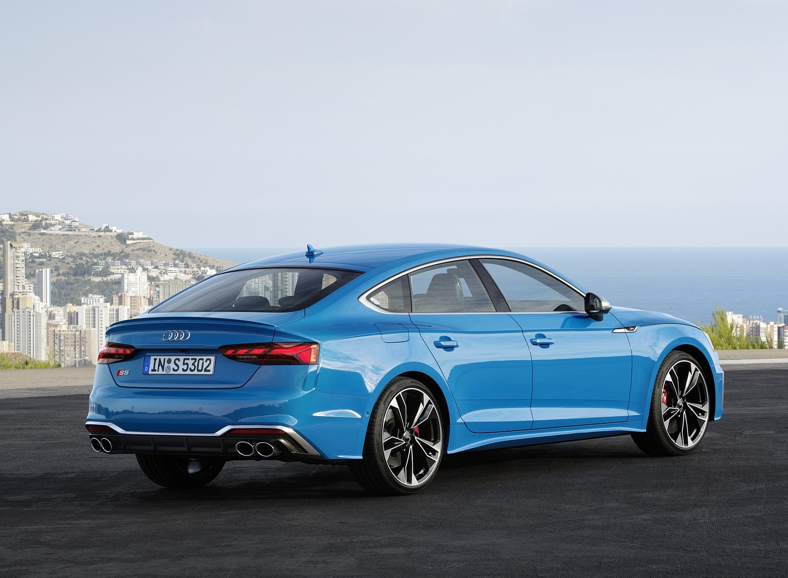 2020 Audi S5 Sportback TDI (Color: Turbo Blue) Rear Three-Quarter Wallpapers (12)
