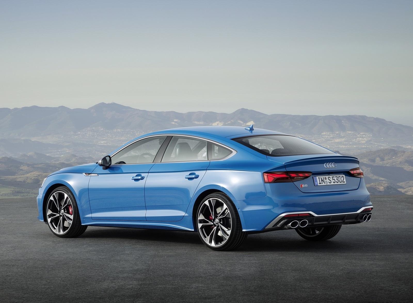 2020 Audi S5 Sportback TDI (Color: Turbo Blue) Rear Three-Quarter Wallpapers (13)