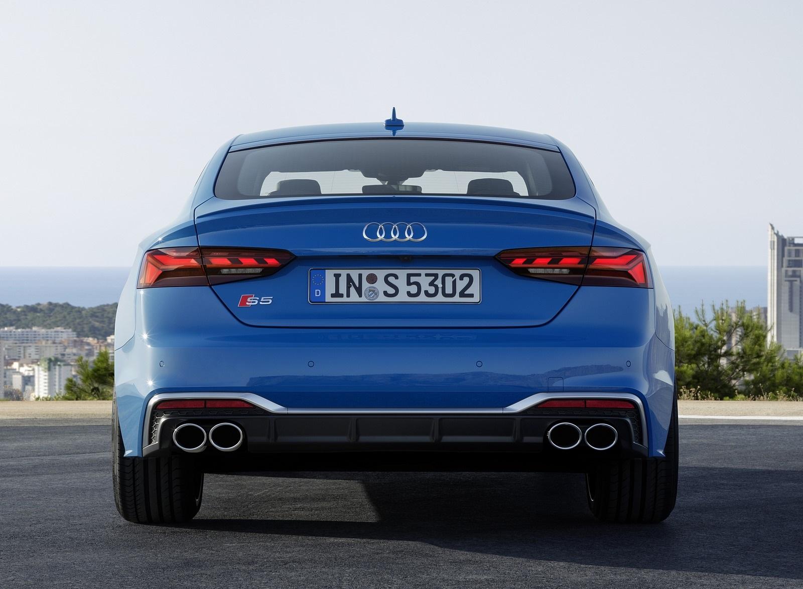 2020 Audi S5 Sportback TDI (Color: Turbo Blue) Rear Wallpapers (14)