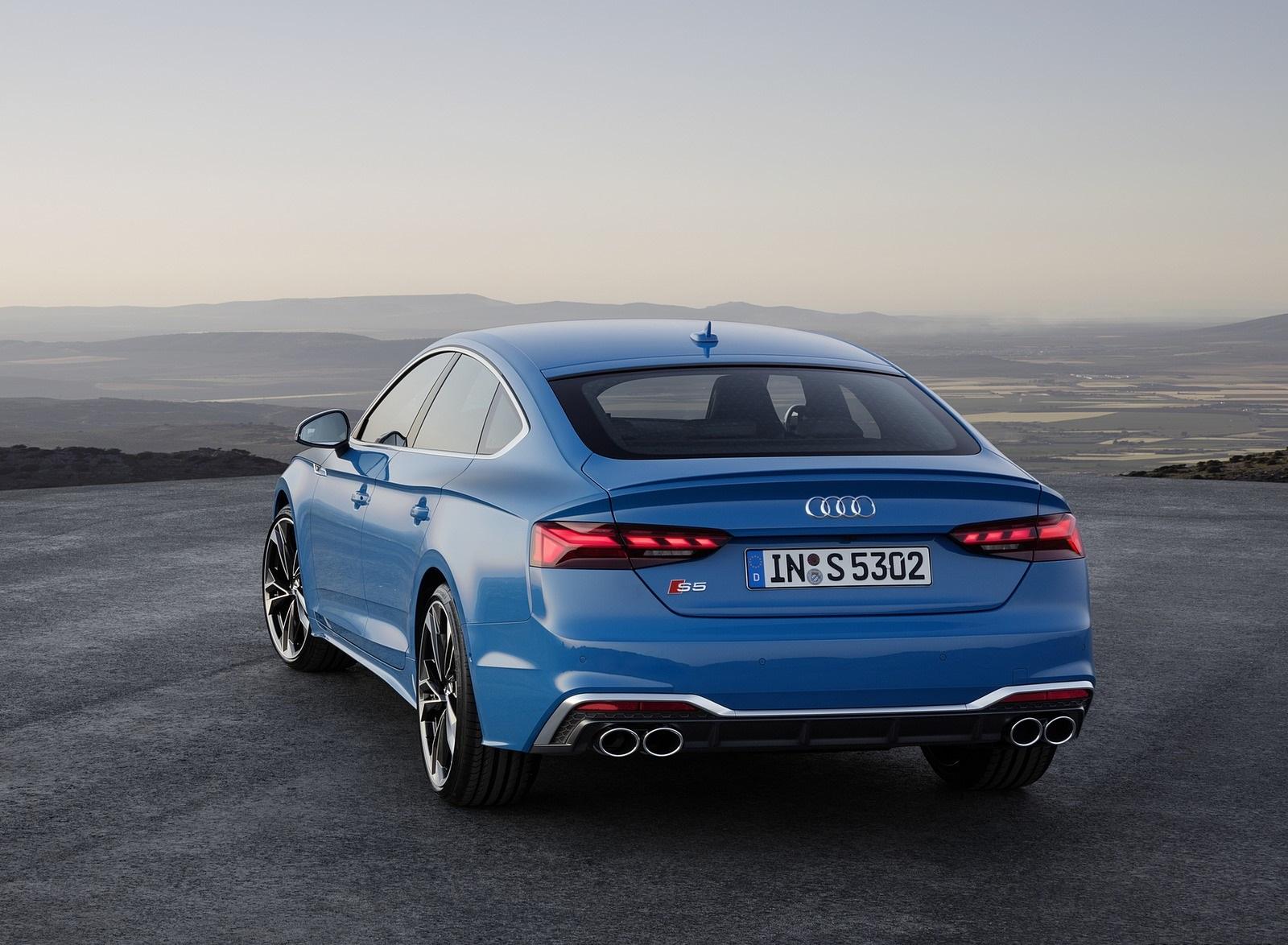 2020 Audi S5 Sportback TDI (Color: Turbo Blue) Rear Wallpapers (15)