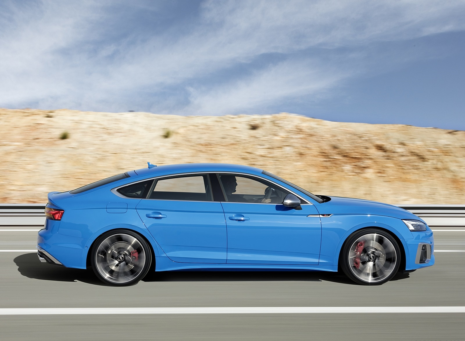 2020 Audi S5 Sportback TDI (Color: Turbo Blue) Side Wallpapers (5)