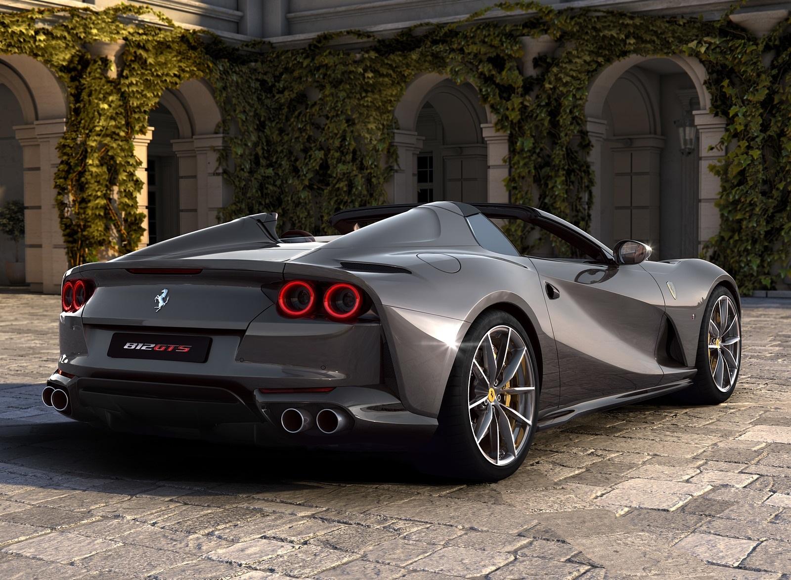 2020 Ferrari 812 GTS Rear Three-Quarter Wallpapers (2)