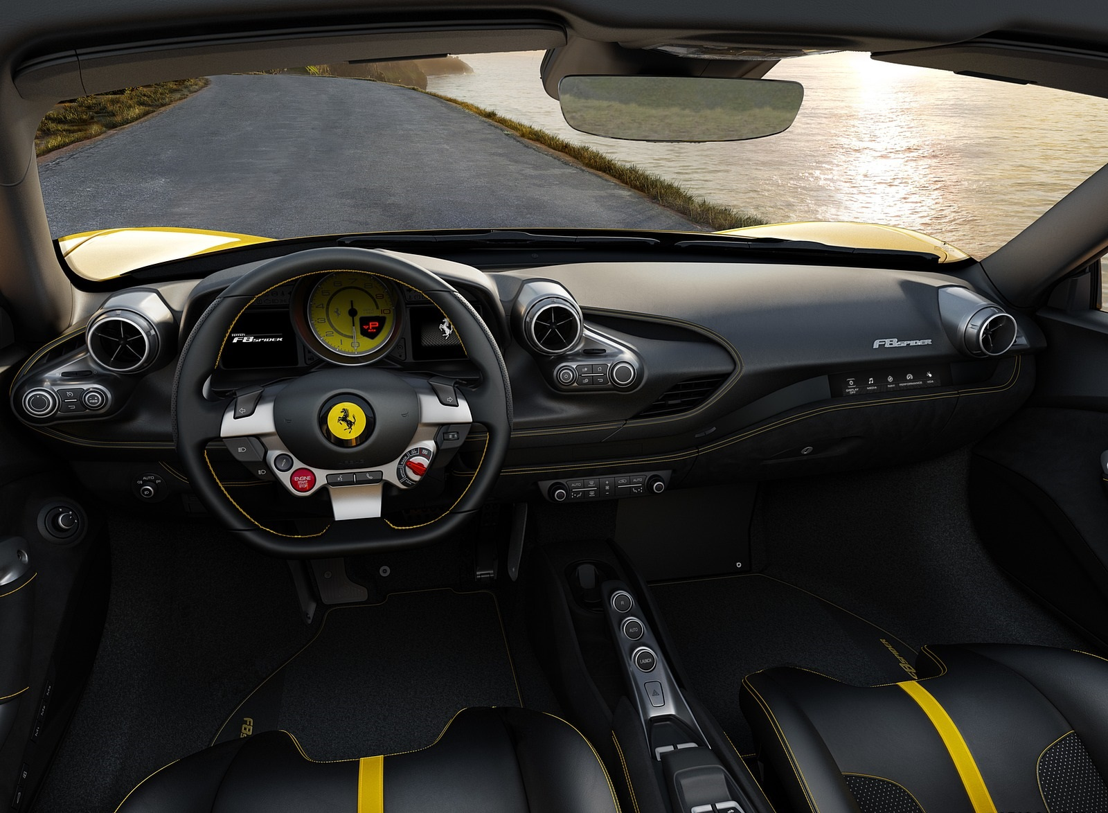 2020 Ferrari F8 Spider Interior Cockpit Wallpapers (8)
