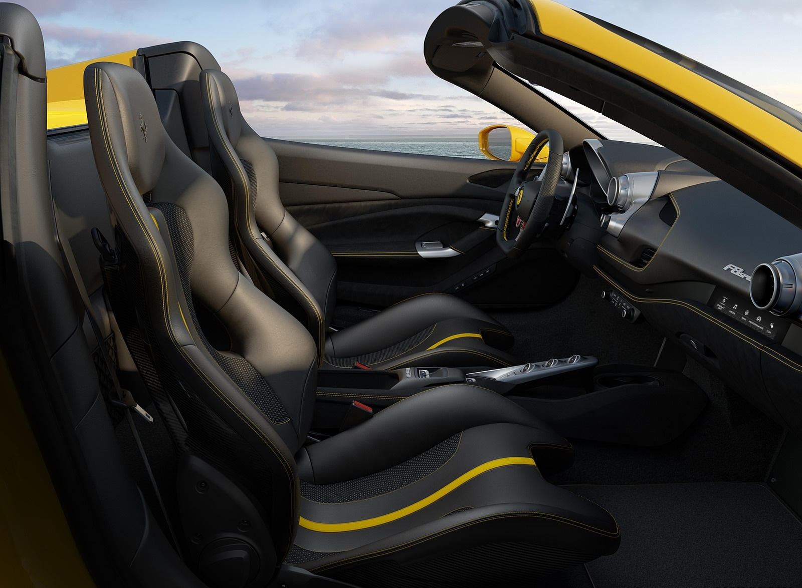 2020 Ferrari F8 Spider Interior Seats Wallpapers (9)