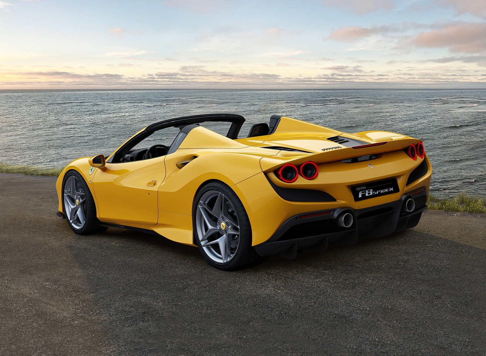 2020 Ferrari F8 Spider Rear Three-Quarter Wallpapers (4)