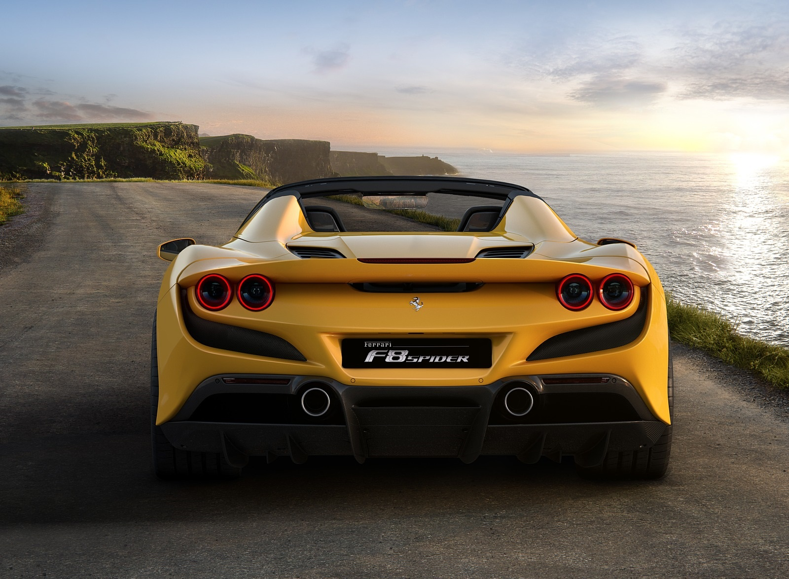 2020 Ferrari F8 Spider Rear Wallpapers (6)