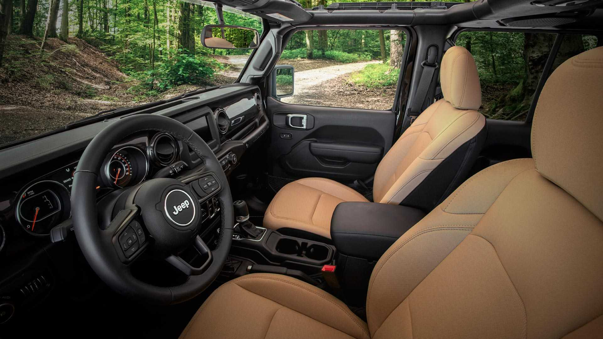 2020 Jeep Wrangler Black and Tan Edition Interior Wallpapers (3)