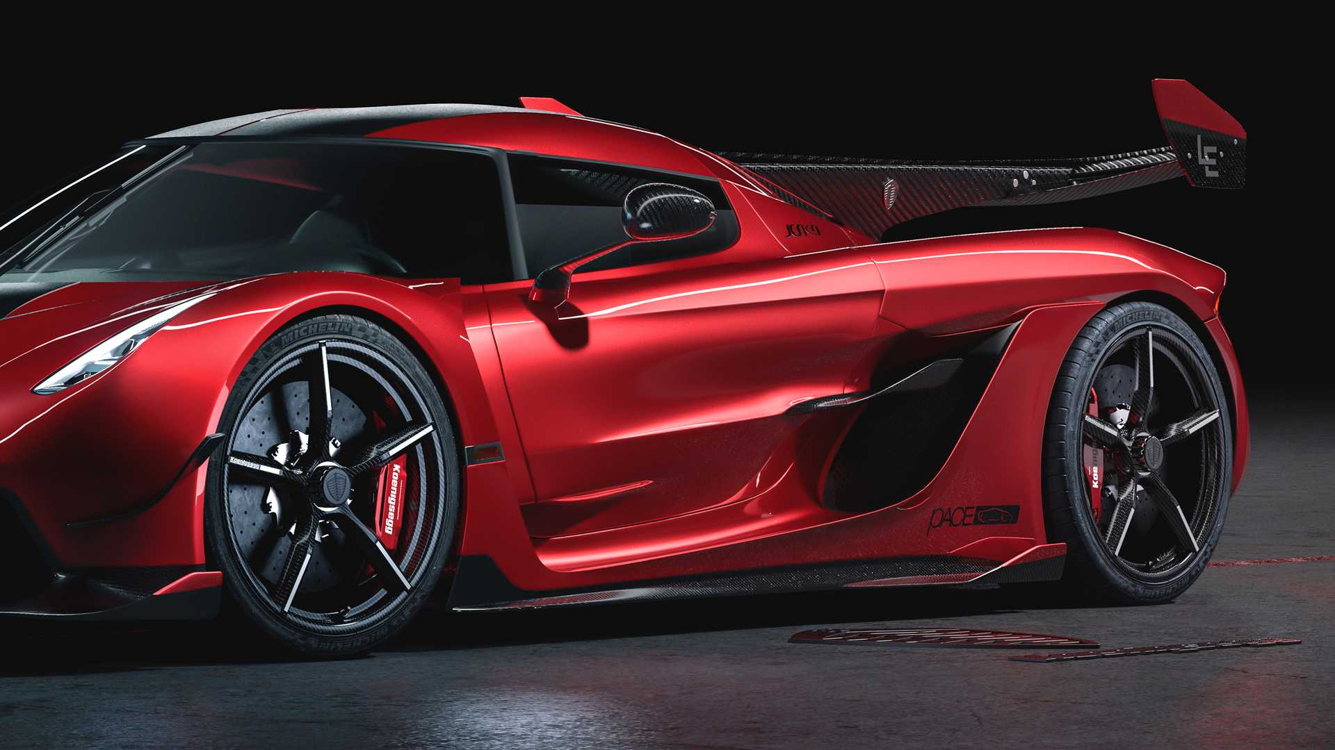 2020 Koenigsegg Jesko Cherry Red Edition10 Detail Wallpapers (8)