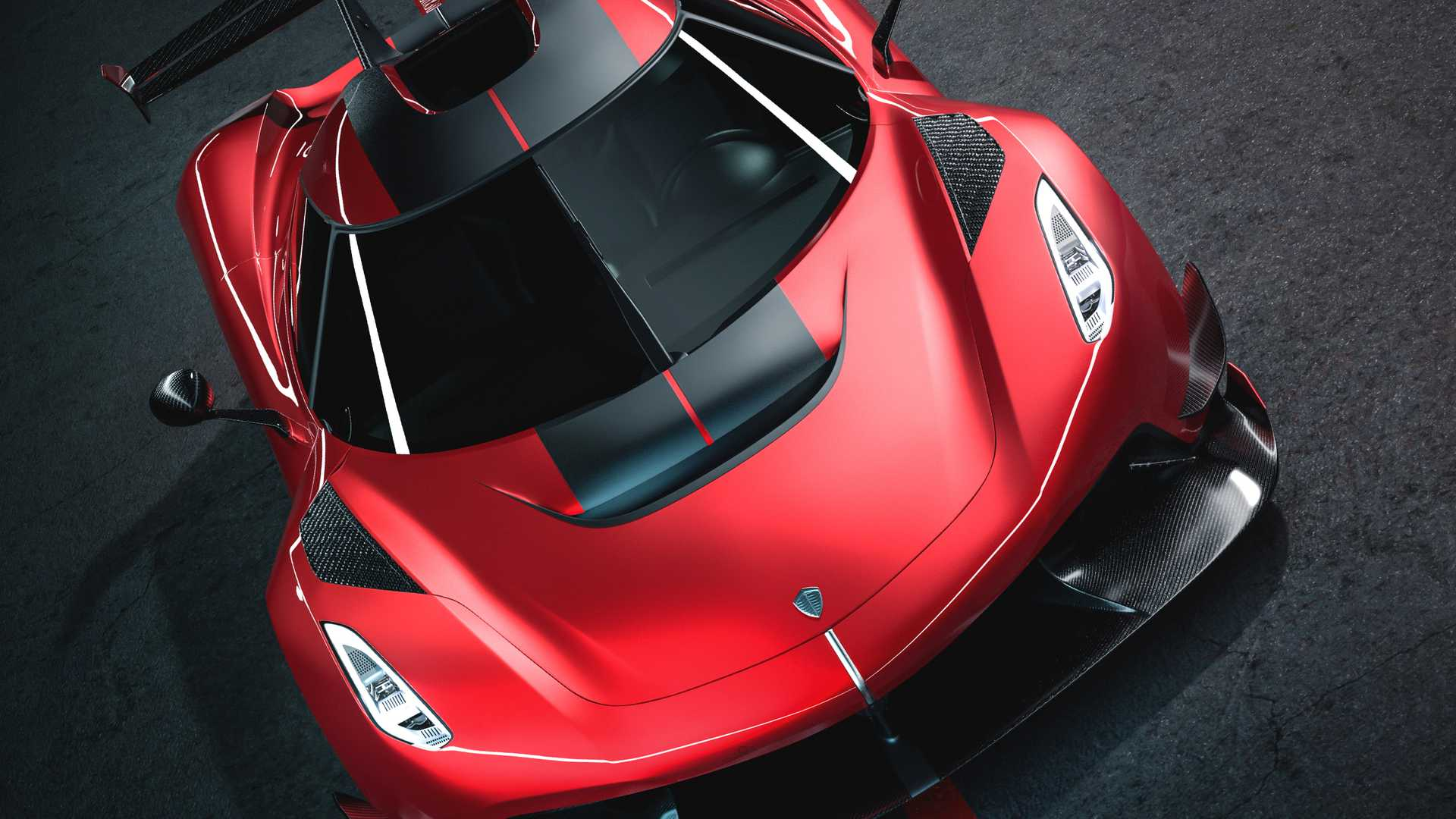 2020 Koenigsegg Jesko Cherry Red Edition10 Front Bumper Wallpapers (9)