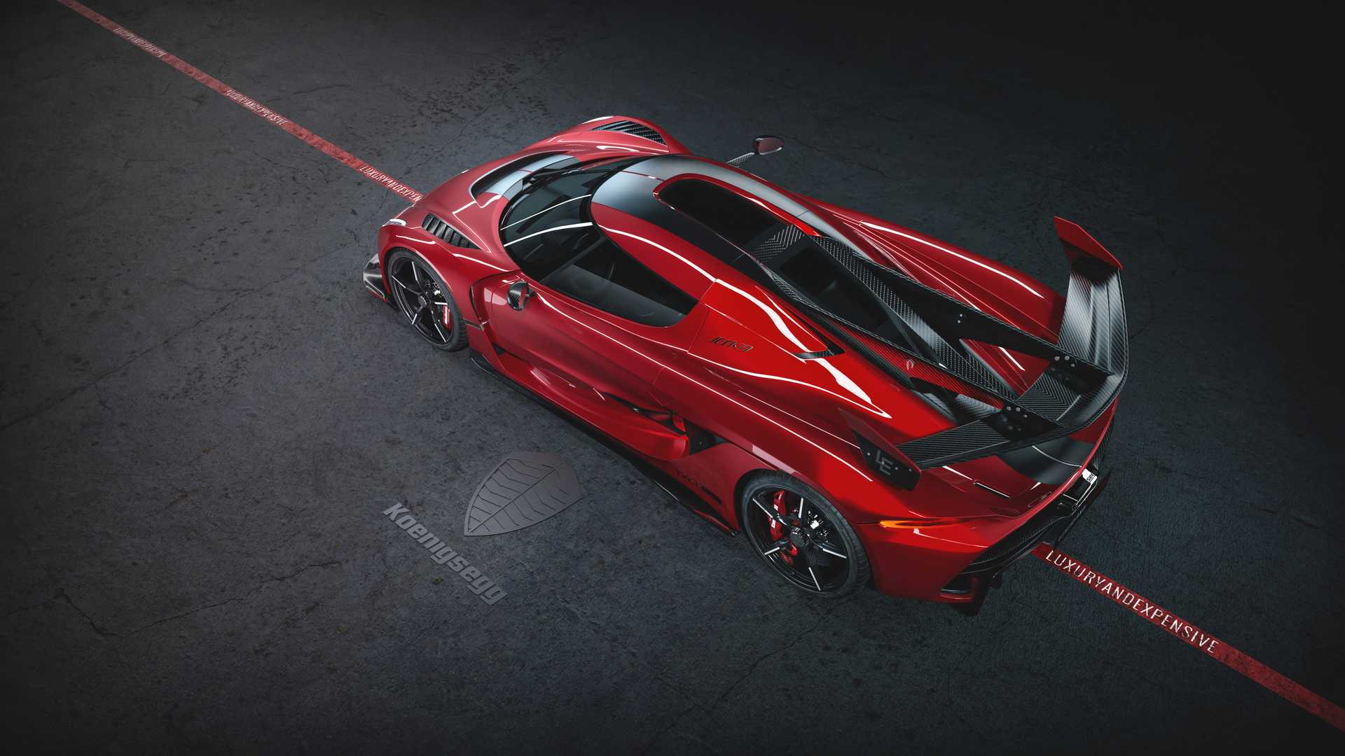 2020 Koenigsegg Jesko Cherry Red Edition10 Rear Three-Quarter Wallpapers (4)