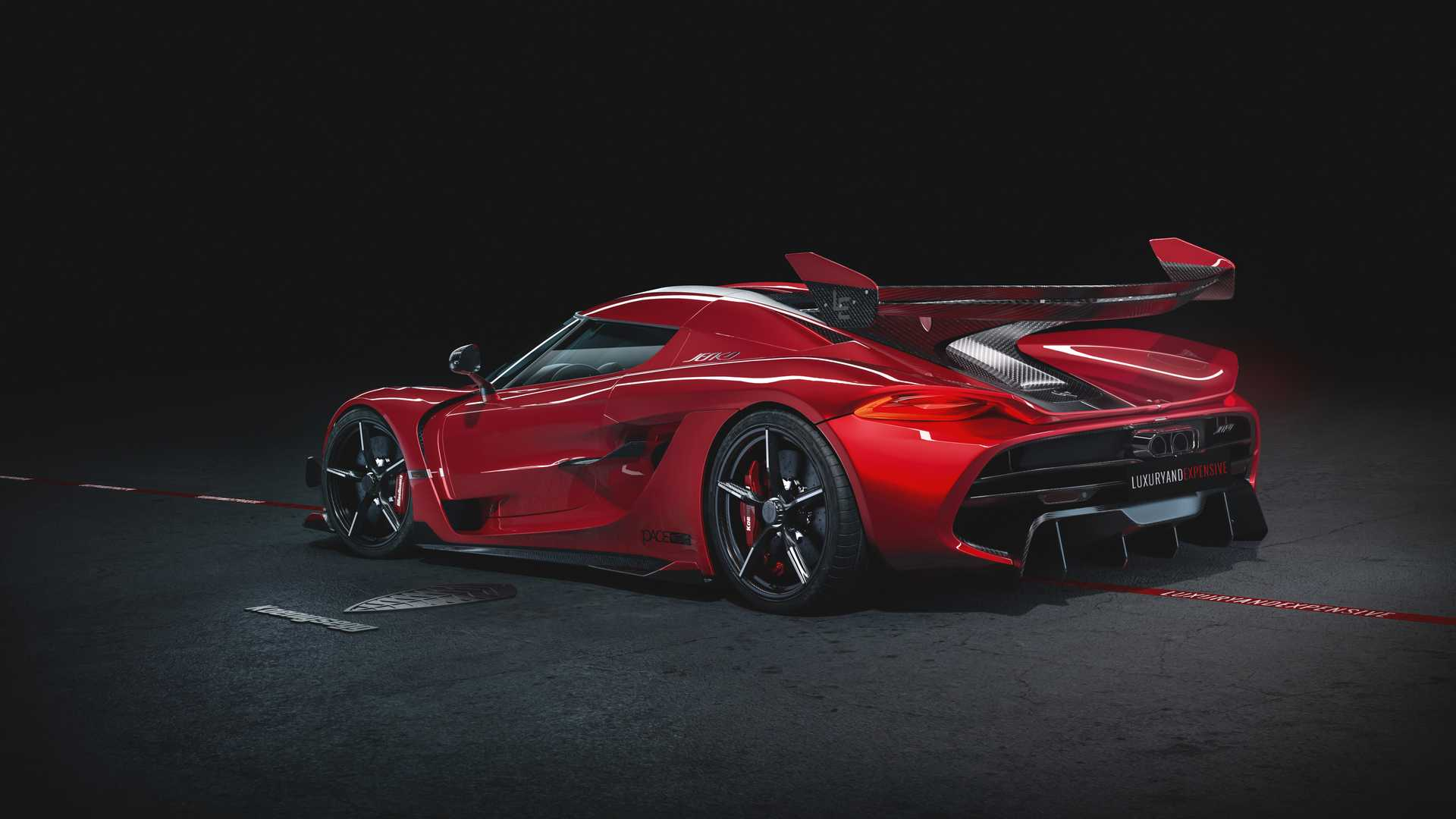 2020 Koenigsegg Jesko Cherry Red Edition10 Rear Three-Quarter Wallpapers (5)