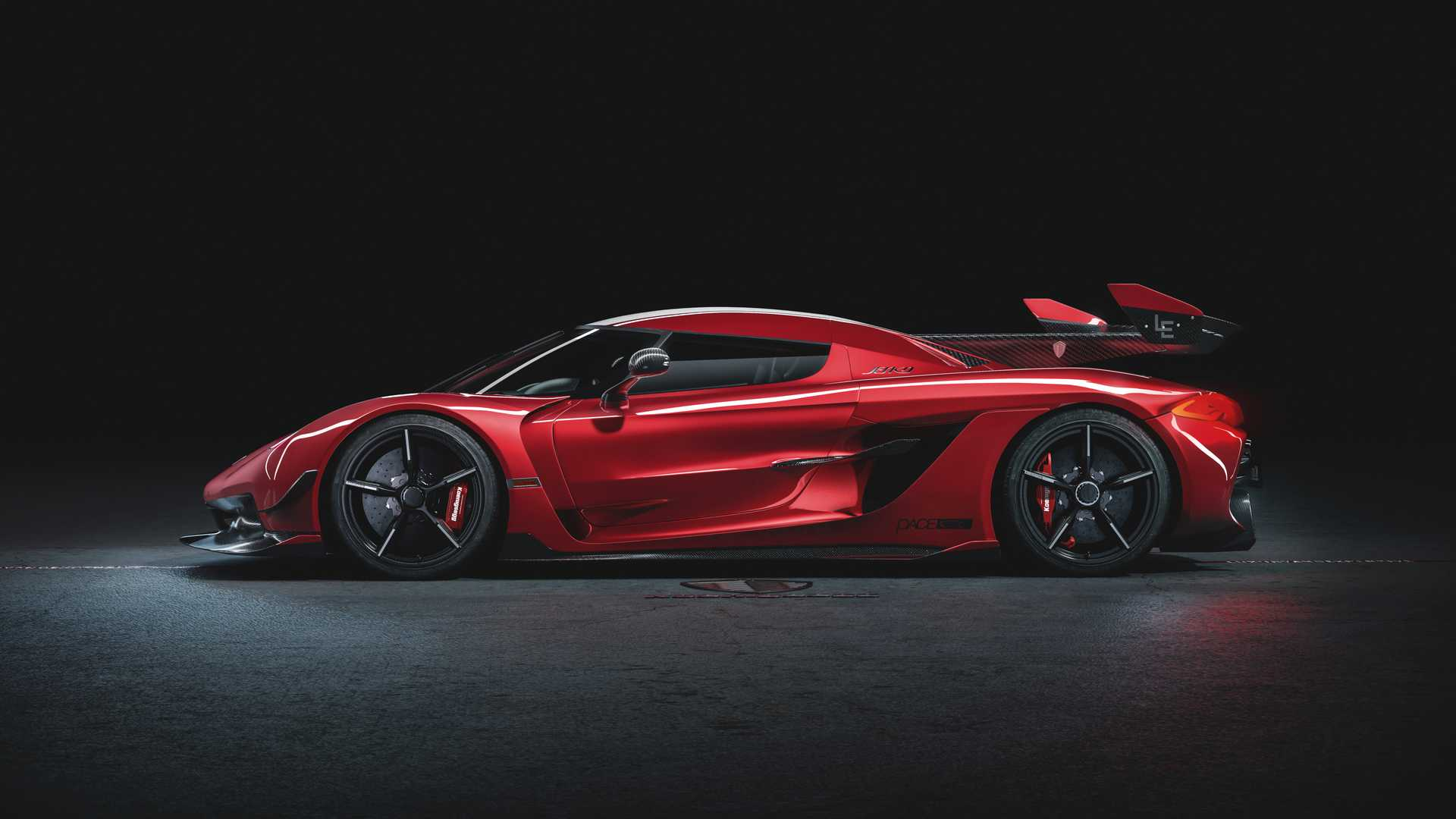 2020 Koenigsegg Jesko Cherry Red Edition10 Side Wallpapers (6)