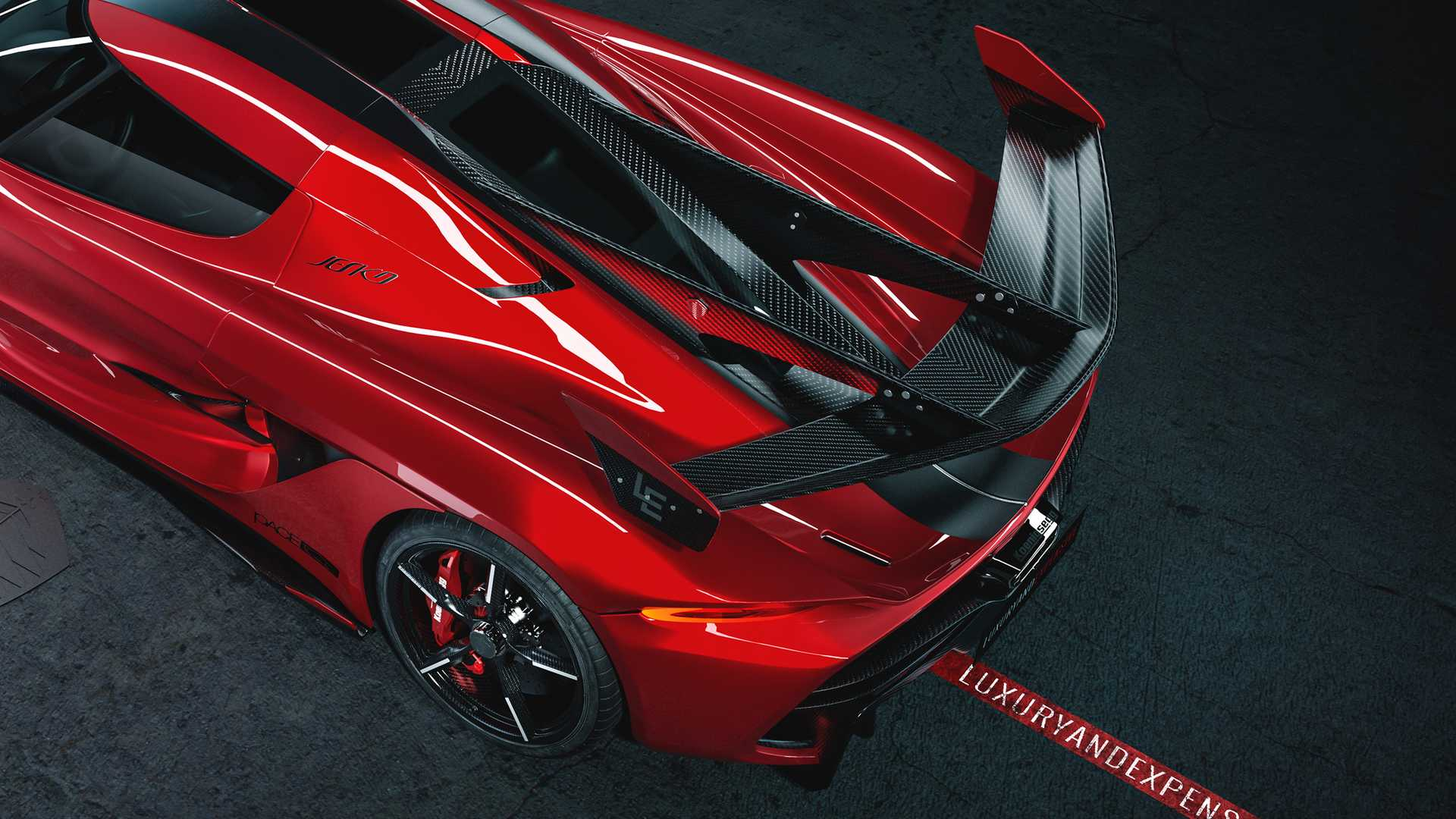 2020 Koenigsegg Jesko Cherry Red Edition10 Spoiler Wallpapers (10)