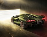 2020 Lamborghini Sián Rear Three-Quarter Wallpapers 150x120