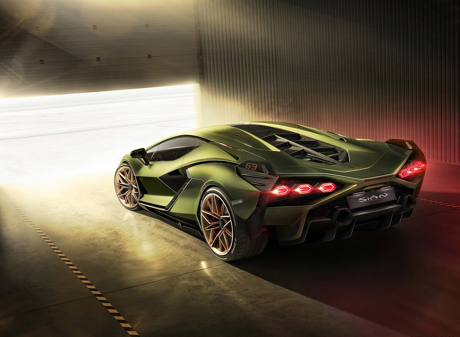 2020 Lamborghini Sián Rear Three-Quarter Wallpapers #11 of 18