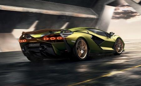 2020 Lamborghini Sián Rear Three-Quarter Wallpapers 450x275 (3)