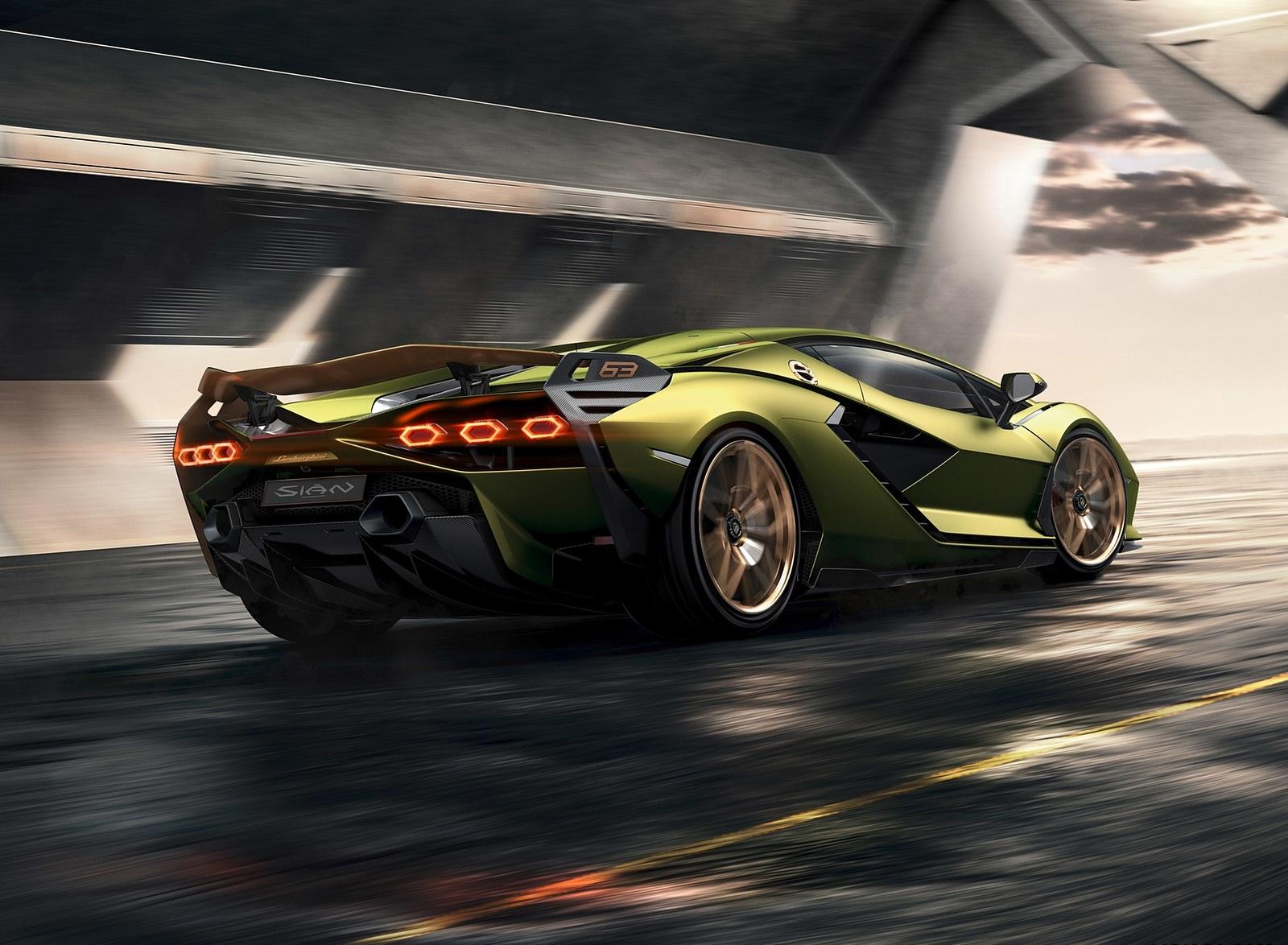 2020 Lamborghini Sián Rear Three-Quarter Wallpapers (3)