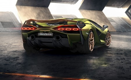 2020 Lamborghini Sián Rear Wallpapers 450x275 (2)