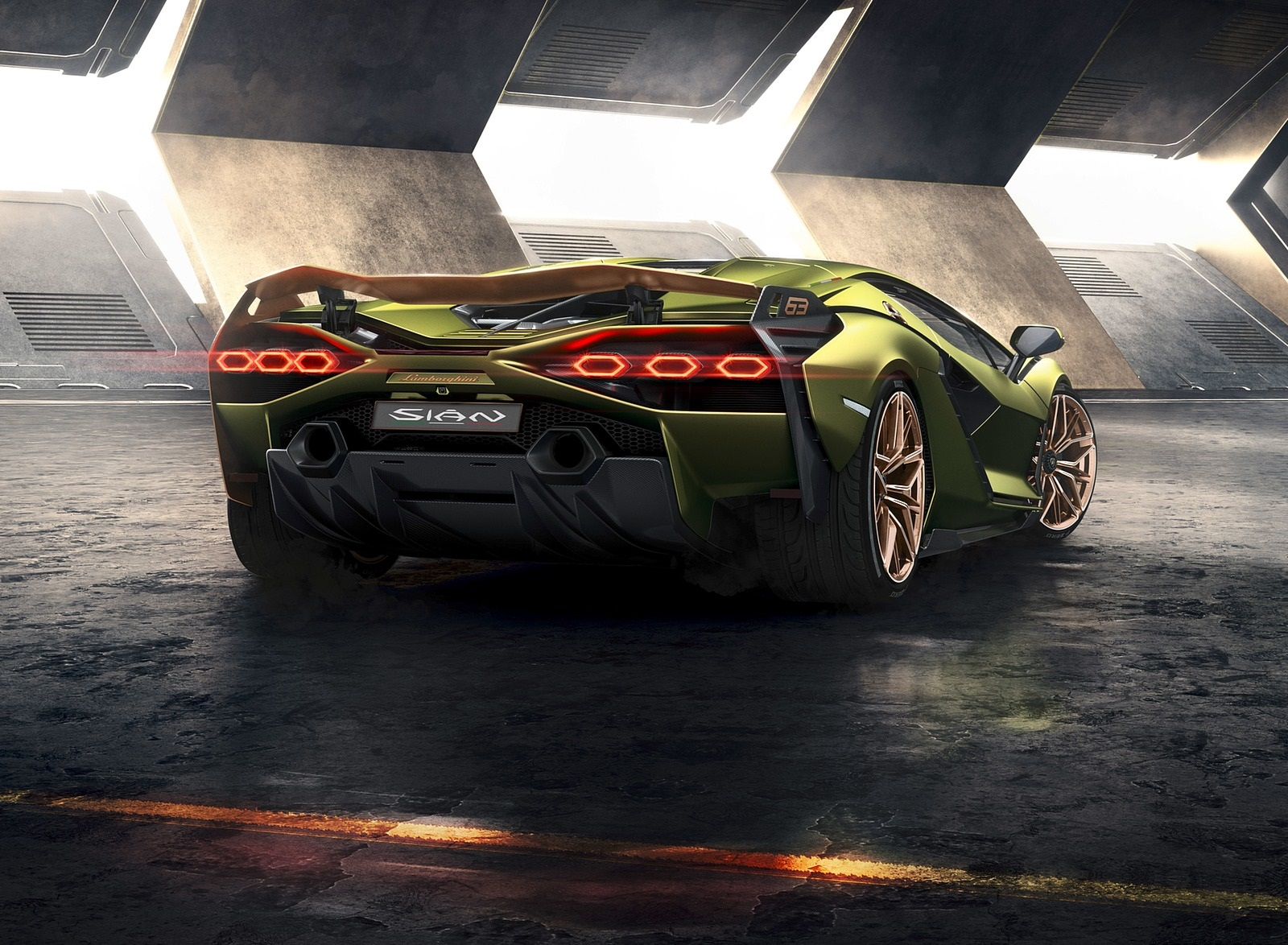 2020 Lamborghini Sián Rear Wallpapers (2)