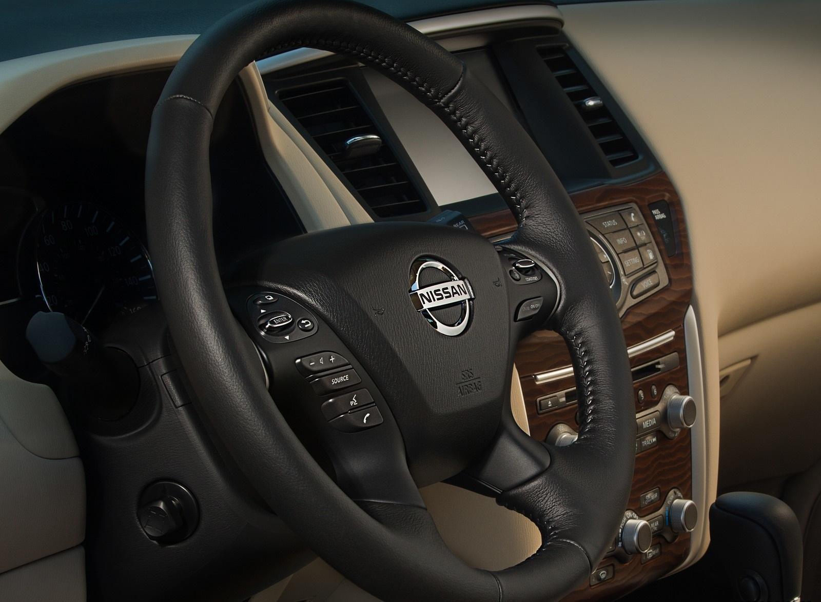2020 Nissan Pathfinder Platinum 4WD Interior Steering Wheel Wallpapers (13)