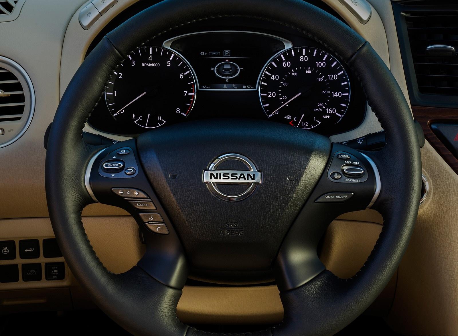 2020 Nissan Pathfinder Platinum 4WD Interior Steering Wheel Wallpapers (12)