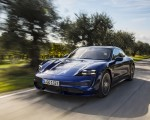 2020 Porsche Taycan Turbo (Color: Gentian Blue Metallic) Front Three-Quarter Wallpapers 150x120 (2)