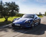 2020 Porsche Taycan Turbo (Color: Gentian Blue Metallic) Front Three-Quarter Wallpapers 150x120 (1)