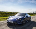 2020 Porsche Taycan Turbo (Color: Gentian Blue Metallic) Front Three-Quarter Wallpapers 150x120 (3)