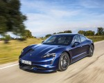 2020 Porsche Taycan Turbo (Color: Gentian Blue Metallic) Front Three-Quarter Wallpapers 150x120 (4)