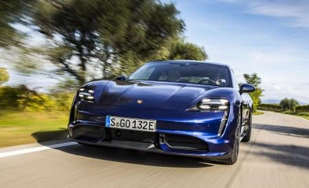 2020 Porsche Taycan Turbo (Color: Gentian Blue Metallic) Front Wallpapers 450x275 (6)