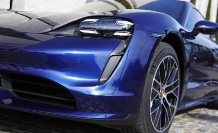2020 Porsche Taycan Turbo (Color: Gentian Blue Metallic) Headlight Wallpapers 450x275 (11)