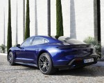 2020 Porsche Taycan Turbo (Color: Gentian Blue Metallic) Rear Three-Quarter Wallpapers 150x120 (10)