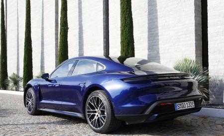 2020 Porsche Taycan Turbo (Color: Gentian Blue Metallic) Rear Three-Quarter Wallpapers 450x275 (10)
