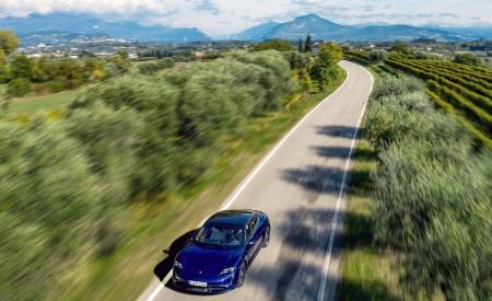 2020 Porsche Taycan Turbo (Color: Gentian Blue Metallic) Top Wallpapers 450x275 (8)