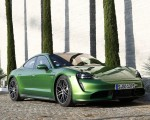 2020 Porsche Taycan Turbo (Color: Mamba Green Metallic) Front Three-Quarter Wallpapers 150x120 (28)