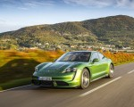 2020 Porsche Taycan Turbo (Color: Mamba Green Metallic) Front Three-Quarter Wallpapers 150x120 (17)