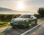 2020 Porsche Taycan Turbo (Color: Mamba Green Metallic) Front Three-Quarter Wallpapers 150x120 (18)