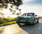 2020 Porsche Taycan Turbo (Color: Mamba Green Metallic) Front Three-Quarter Wallpapers 150x120 (19)