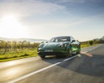 2020 Porsche Taycan Turbo (Color: Mamba Green Metallic) Front Three-Quarter Wallpapers 150x120 (21)