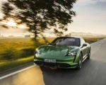 2020 Porsche Taycan Turbo (Color: Mamba Green Metallic) Front Three-Quarter Wallpapers 150x120 (22)