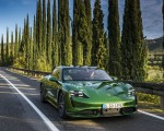 2020 Porsche Taycan Turbo (Color: Mamba Green Metallic) Front Wallpapers 150x120 (24)