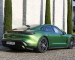 2020 Porsche Taycan Turbo (Color: Mamba Green Metallic) Rear Three-Quarter Wallpapers 150x120 (31)